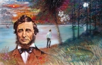 Scenry Of Pond Framed Prints - Henry David Thoreau Framed Print by John Lautermilch