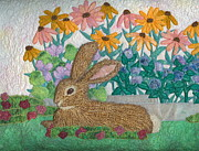 Rabbit Tapestries - Textiles Framed Prints - Henry Framed Print by Denise Hoag