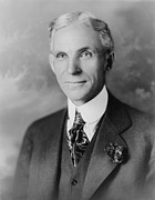 Motor Metal Prints - Henry Ford 1963-1947, Founder Of Ford Metal Print by Everett