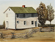 Split Rail Fence Originals - Henry House by Alan Mager