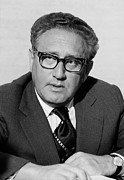 Secretary Of State Framed Prints - Henry Kissinger As Secretary Of State Framed Print by Everett