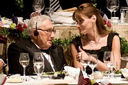 Kissinger Prints - Henry Kissinger, Carla Bruni-sarkozy Print by Everett
