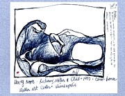 Drawings  - Henry Moore Bronze Study by Carol Rashawnna Williams