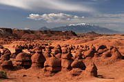 Goblin Valley State Park Prints - Henry Mountains Print by David Hogan