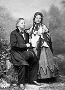 Abolitionist Metal Prints - Henry Ward Beecher 1813-1887, Harriet Metal Print by Everett
