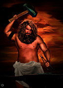 Husband Digital Art Posters - Hephaestus Poster by Lourry Legarde