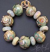 Featured Glass Art - Her Grace Lampwork Bead Set by Lydia Muell
