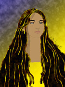 Woman With Long Hair Prints - Her hair is her crowning glory Print by Kate Farrant