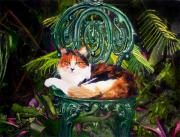 Key West Paintings - Her Highness by Maureen Hunt Piccirillo