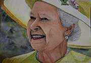 Queen Elizabeth Paintings - Her Majesty by Betty-Anne McDonald