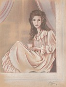Portaiture Posters - Her Morning Elegance Poster by Nancy M Garrett