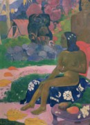 Nude Canvas Paintings - Her Name is Vairaumati by Paul Gauguin