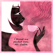Tea Mixed Media Framed Prints - Her Perfect Man Framed Print by Angelina Vick
