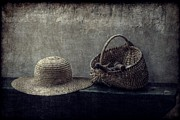 Sun Hat Prints - Her Things Print by Christine Annas