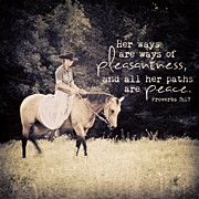 "Beauty Posters - ""her Ways Are Ways Of Pleasantness Poster by Traci Beeson"