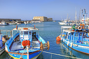 Fishermen Posters - Heraklion - Venetian fortress - Crete Poster by Joana Kruse