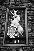 Irs Photo Posters - Heraldic Panel Royal Arms Of King James The Fifth V On The Wall Of The Abbey Courthouse Holyrood Edi Poster by Joe Fox