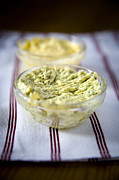 Culinary Prints - Herb butter Print by Frank Tschakert