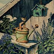 Antiques Paintings - Herb Garden by Alice Taylor