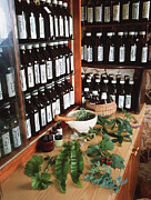 Bottled Photo Prints - Herbal Pharmacy Print by Tek Image
