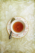 Vintage Teacup Prints - Herbal Tea Print by Stephanie Frey