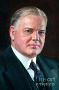 First President Framed Prints - Herbert Hoover, 31st American President Framed Print by Photo Researchers