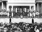 Swearing In Prints - Herbert Hoover Takes Oath Of Office Print by Everett