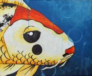 Koi Fish Drawings - Herbert by Juliet Magill