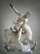 City And Colour Prints - Hercules and Centaur Sculpture Print by Artecco Fine Art Photography - Photograph by Nadja Drieling