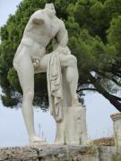 Greek Sculpture Posters - Hercules at Ostia Antica Poster by Mindy Newman