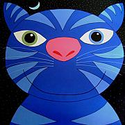 Blue Cat Posters - Hercules II Poster by Chris Mackie