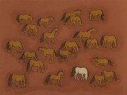 Wild Horse Paintings - Herd 1 by Sophy White