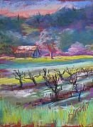 Grapevines Painting Originals - Here Comes the Mustard by Suzi Marquess Long