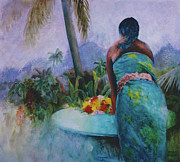 Moorea Paintings - Here Comes the Storm by Eve Riser Roberts