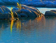 Watson Lake Prints - Here Comes The Sun Print by Robert Hooper