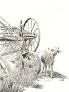 Machinery Drawings Originals - Here Comes Trouble by Wendy Mould