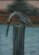Pylon Paintings - Here Fishy by Linda Eades Blackburn