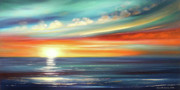 Sunset Posters Originals - Here It Goes - Panoramic Sunset by Gina De Gorna