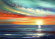 Sunsets Original Paintings - Here It Goes by Gina De Gorna