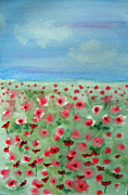 Poppies Field Paintings - Here There Everywhere by Carol Bruno