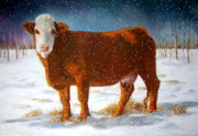 Rustic Pastels - Hereford In Winter by Joyce Geleynse