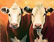 Cows Posters - Herefords Poster by Toni Grote