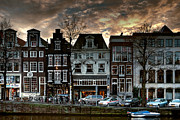 Buildings At Sunset Prints - Herengracht 502. Amsterdam Print by Juan Carlos Ferro Duque