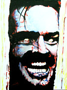 Horror Movies Painting Framed Prints - Heres Johnny Framed Print by Brian Carlton
