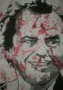 Jack Nicholson Painting Originals - Heres Johnny by JJ  Burner