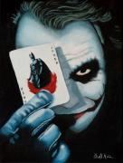 Batman Paintings - Heres my Card by Al  Molina
