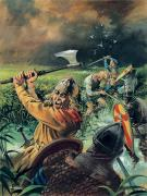 Outlaw Paintings - Hereward the Wake by Andrew Howat