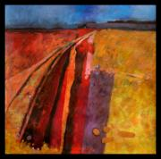 Footpaths Art - Herfordshire farmland by Carol Ayton