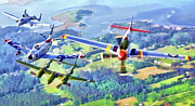 Aircraft Posters - Heritage Flight Poster by Dale Jackson