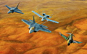Usaf Framed Prints - Heritage Flight II Framed Print by Dale Jackson